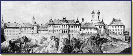 A vár korabeli látképe