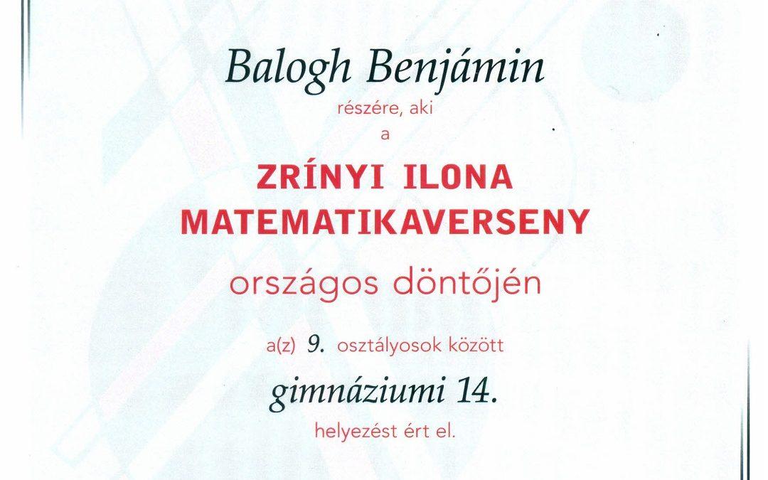 Zrínyi Ilona matematikaverseny döntője