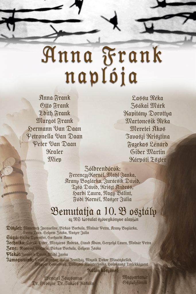 2019 - Anna Frank naplója