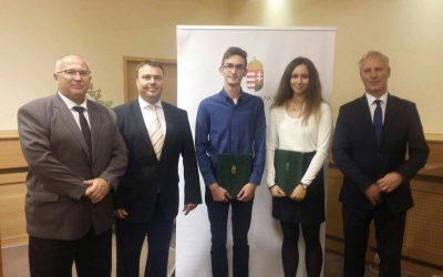 Martoncsik Réka és Fódi Kornél nemzetiségi ösztöndíjas