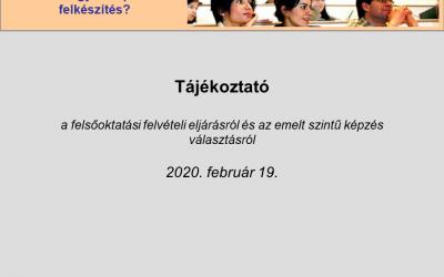 Tájékoztató az emelt szint választásról – 2020