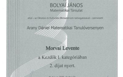 Arany Dániel Matematikai Tanulóverseny eredmények – 2020