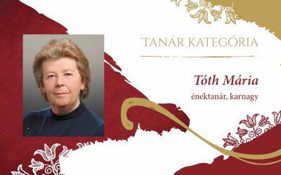 Tóth Mária tanárnő Kóta díjas