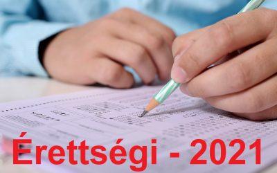 Az írásbeli vizsgákkal kapcsolatos tájékoztató – 2021