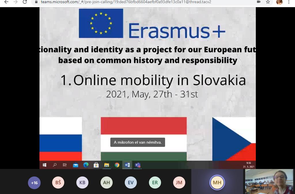 Erasmus+ program beszámolója – 2021. május 27-31.